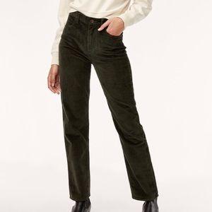 Wilfred Maddie Corduroy High Rise Pants 4 Black